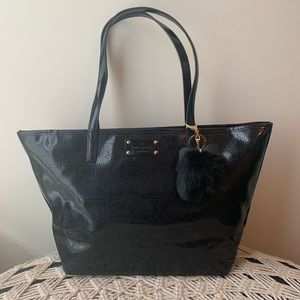 Kate Spade AUTHENTIC Black Patent Leather Tote